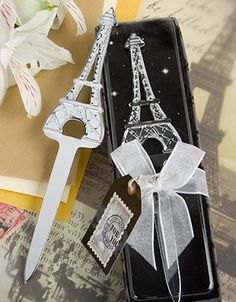 Eiffel Tower Letter Opener Candle Wedding Favorswedding