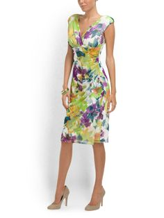 Side ruched sheath dress