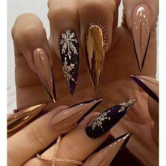 Nail art Christmas - the festive spirit on the nails. Over 70 creative ideas and tutorials - My Nails Cute Acrylic Nail Designs, Best Acrylic Nails, Nail Art Designs, Nails Design, Xmas Nails, Holiday Nails, Christmas Nails, Perfect Nails, Gorgeous Nails