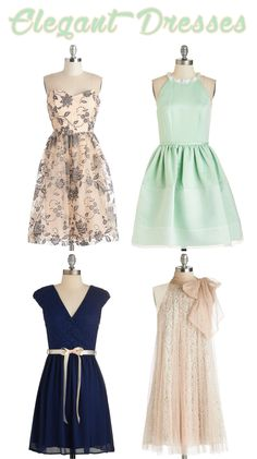 Elegant Dresses - perfect to wear to a wedding, dance, date night, special events and more!