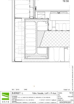 Gallery of Mountain Dwellings / PLOT = BIG + JDS - 39 The purchase price reach of the Apartment was Technical Architecture, Architecture Drawings, Architecture Details, Window Detail, Roof Detail, Looking For Apartments, Building Skin, Section Drawing, Detailed Drawings