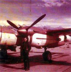 P-38 Lightning-Pilot Mira Slovak, for Bill Harrah...1960