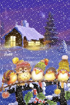 Download Animated 320x480 «christmas birds» Cell Phone Wallpaper. Category: Pets & Animals