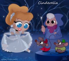 50 Chibis Disney : Cinderella by princekido on deviantART