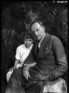 A.A. Milne and his son (Christopher) Robin, 1932 by wilda
