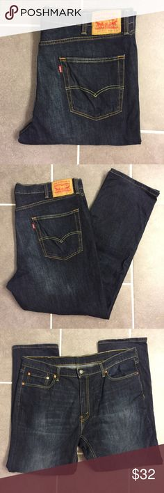 Levi's 541 W38 L32 Dark Denim Jeans Levi's 541 W38 L32 Dark Denim Jeans that  have Stretch but a tailored look. Athletic Fit and created for comfort. Great Condition. Never put in dryer. Smoke free home. No trades. Levi's Jeans