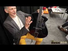 2015 Pagelli Massari Super Deluxe Archtop... like the magnetic plate on the tailpiece to cover the string ends (1:59)
