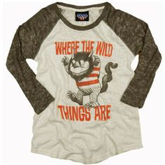 Where the Wild Things Are was one of my favorite books growing up. I want this t-shirt for me & my boy!!