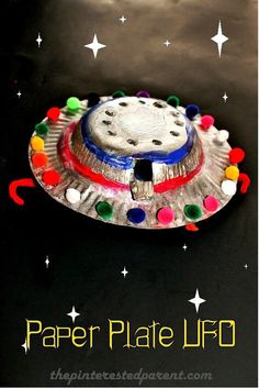 Paper Plate UFO - flying saucer