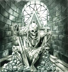 """Original drawing """"Deadly Rule"""" for Avenged Sevenfold by Cam Rackam"""