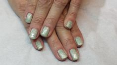shellac rockstar using mint convertable,by jane at nails and beauty to go
