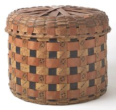 Bonnet basket, unknown Native American artist, eastern North America, possibly Vermont or northern New York, 1820–50