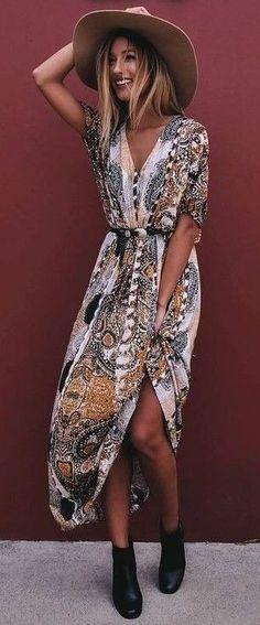 Wild Print Maxi Dress                                                                             Source