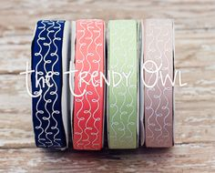 Beach Chic <3 Glitter Swirls Ribbon!  Shop our designer ribbon now @ www.thetrendyowl.com