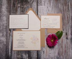 Printable Wedding Invitations, Wedding Stationery, Printable Designs, Kraft Paper, Etsy Store, My Etsy Shop, Bloom, Rustic, Cream