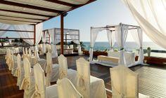 Montaje para boda en la terraza del Sunset Chill-Out Bar  #h10_weddings