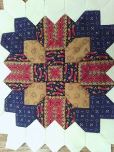 patchwork of the crosses | ... .blogspot.com My Lucy Boston Patchwork of the Crosses block