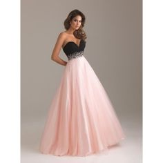 Baby pink and black with sequences dress