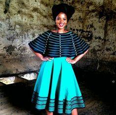 #umbhaco #mordenxhosaattire African Wear Dresses, Latest African Fashion Dresses, African Print Fashion, African Attire, African Prints, African Outfits, South African Traditional Dresses, African Traditional Wedding, Traditional Outfits