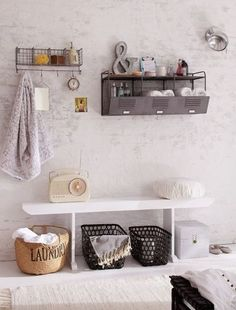 Industrial office storage - more dump-iness. Wall Storage, Bathroom Storage, Storage Spaces, Hallway Storage, Industrial Office Storage, Industrial Shelves, Multipurpose Room, Decoration, Home Furniture