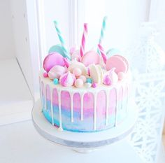 20 ideas for birthday cake girls parties food Beautiful Birthday Cakes, Beautiful Cakes, Amazing Cakes, Stunningly Beautiful, Pretty Cakes, Cute Cakes, Yummy Cakes, Candy Birthday Cakes, Birthday Cake Girls