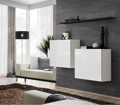 Szafki do salonu pełnią niezwykle dekoracyjną i funkcjonalną rolę w naszym domu. To głównie od nich zależy wygląd i styl naszego salonu, a także ilość miejsca jaką zapewniają nam do przechowywania najpotrzebniejszych przedmiotów. Classic Living Room, Living Room Modern, Living Room Wall Units, Living Room Furniture, Modern Tv Wall Units, Modern Tv Cabinet, Modern Wall, Modern Contemporary, Modern Design