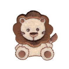 Simplicity Especially Baby Iron On Applique Tan & Brown Lion from @fabricdotcom  Use Simplicity Especially Baby Appliques to add whimsy and charm to apparel, accessories, and other craft and home décor projects. Appliqués can be stitched or ironed on. Package includes 1 applique. Applique measures 2 inches tall. 2.98