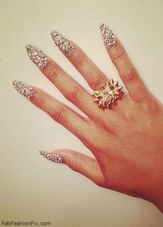 Fabulous glitter nails
