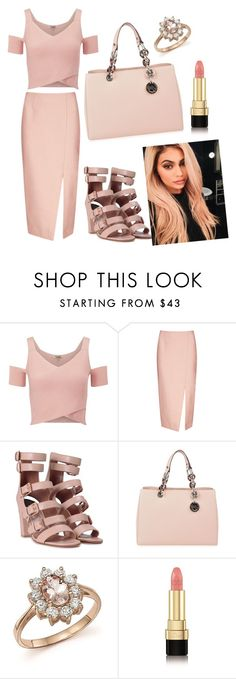 """""""Kylie - inspired nude look"""" by cupcakedraconis ❤ liked on Polyvore featuring Lipsy, C/MEO COLLECTIVE, Laurence Dacade, MICHAEL Michael Kors, Bloomingdale's, Dolce&Gabbana and Justin Bieber"""