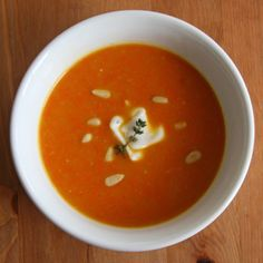Detox Deliciously: Ginger-Carrot Soup: You may be surprised to learn that it's celebrity chef Guy Fieri who created this perfect bowl of soup fit for a delicious detox.