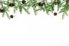 #Christmas background  Christmas composition with fir branches and pine cones. Flat lay composition for bloggers magazines websites social media business owners and artists. This purchase includes one high resolution horizontal digital image. Image is a sRBG jpg and is approximately 5052x3368 pixels. Look for some other Christmas compositions: http://ift.tt/2fvNNkt License terms: http://ift.tt/1W9AIer