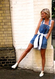 Overalls + White Booties