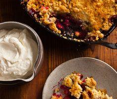 Sour Cherry Crumble Recipe at Epicurious.com