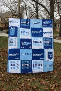 Kansas City Royals Rally Towel Quilt #kcroyals Royals Mlb, Kc Royals Baseball, Baseball Season, Kansas Chiefs, Kansas City Royals, Royal Craft, Baseball Quilt, Baseball Socks, Royal Bedroom