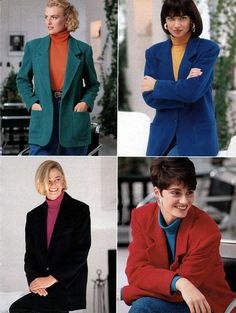 Women's Sports Coats from a 1991 catalog #1990s #fashion #vintage