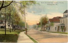 State Avenue Near George Street Coraopolis PA Postcard 1913