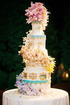 Dylan Lauren Wedding - wedding cake, elaborate