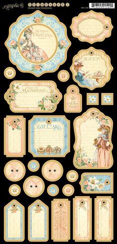 Graphic 45 Precious Memories Journaling Chipboard Embellishments NEED Graphic 45, Vintage Tags, Vintage Labels, Scrapbook Albums, Scrapbook Paper, Scrapbooking Pas Cher, Etiquette Vintage, Printable Labels, Arts And Crafts Supplies