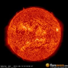 The hourly sun (at 01:45 am  UTC on 12 June 2013)