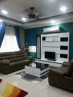 Tv Showcase, Wall Unit Designs, Tv Unit, Loft, Living Room, Bed, Furniture, Home Decor, Homemade Home Decor