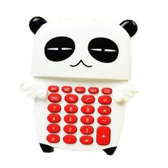 Lovely Cool Panda&Angel Wings Portable Mini Solar Pocket Calculator 8 Digitals