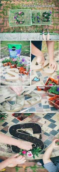 DIY Initial Letter Planters