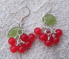 Red & Silver Holly Berries for Christmas and Winter Wonderland Earrings