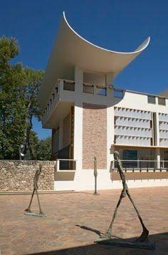 Fondation Maeght, by Catalan architect Josep Lluis Sert, built 1964, Saint-Paul-de-Vence, France.