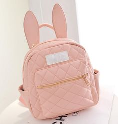 "Korea fashion cute bunny ears backpack - click the link for more cute looks and use this coupon code ""discount2016"" to get all 10% off,Sponsor Review and Affiliate Program open there!"