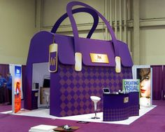 They loved our custom Purse at GlobalShop. Look out for our 3D Retail Custom Fabric Structures ; )