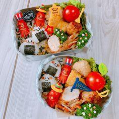 (◡̈)/♥︎Hello♡ . 今日から幼稚園組、3学期スタート❣️ 今日の#次男くん と#三男くん の #幼稚園弁当 🍱 2枚目▶️次男くん🍙 3枚目▶️三男くん🍙 . 2019年も代わり映えしないお弁当😅 バイトの日は特に、 手の込んだお弁当が作れない〜… Bento Box, Lunch Box, Cooking Tips, Cooking Recipes, Cute Bento, Bento Recipes, Cafe Food, Sushi, Good Food