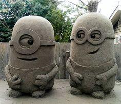 Minions (sand sculptures) by sculptin.deviantart.com on @deviantART - gefunden und gepinnt vom Immobilien Büro in Hannover Makler arthax-immobilien.de