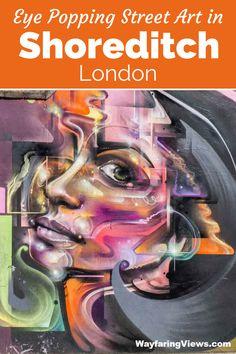 Explore edgy, political and colorful street art in Shoreditch London.  #london #streetart #england   Brick | Murals | Graffiti | street art tour | East End