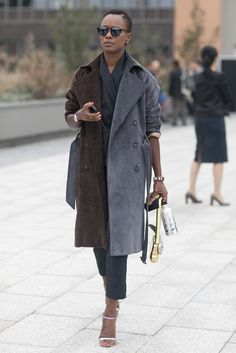 Best Street Style Paris Fashion Week Spring 2014 | Pictures | POPSUGAR Fashion Keeping classic in corduroy.